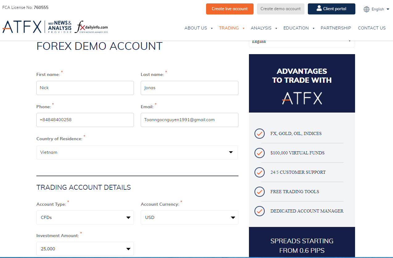 ATFX Review